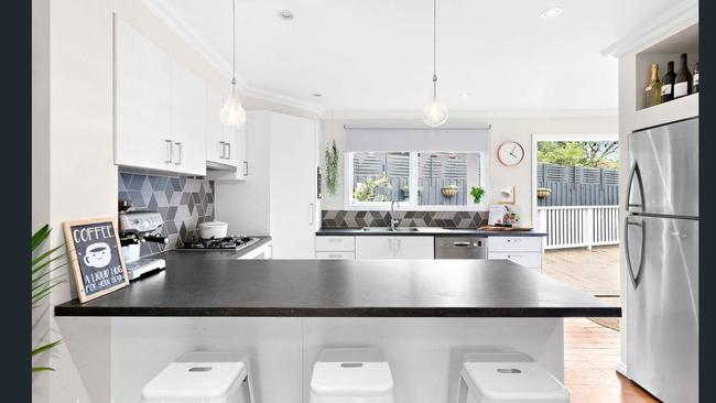 Amazing The kitchen styled with items from Kmart Picture Supplied