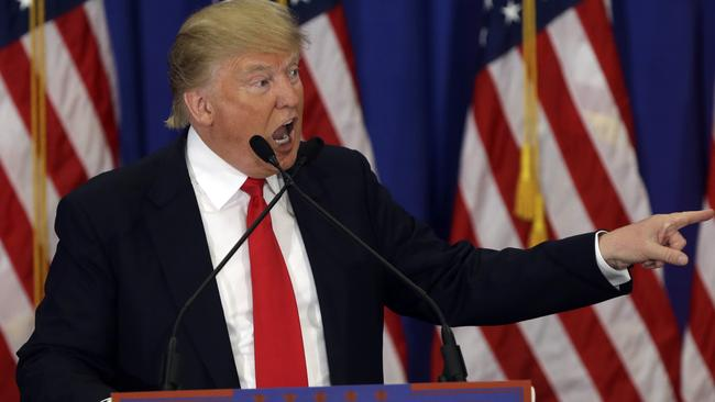 Republican presidential candidate Donald Trump has won in Michigan and Missiissppi. Picture: AP/Lynne Sladky