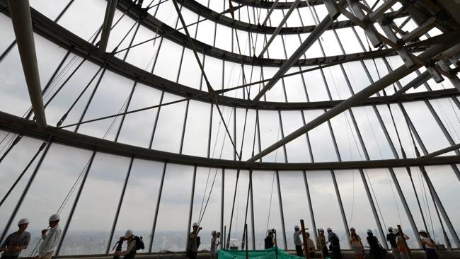 Inside the tower. Picture: AFP