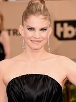 Veep star Anna Chlumsky was all smiles on the red carpet for the 22nd Annual Screen Actors Guild Awards. Picture: Jason Merritt/Getty Images