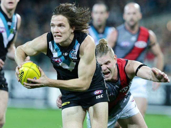 Many thought Port Adeliade's Jared Polec was the most improved player in the AFL at the halfway mark of the season. Picture: Sarah Reed