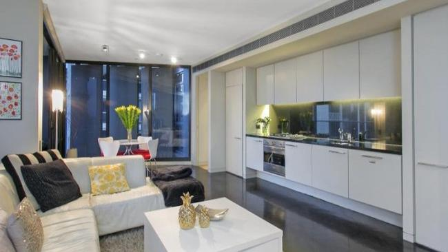 One bedroom ... Offers over $1.075 million will get you views of Sydney Harbour Bridge. Picture: realestate.com.au