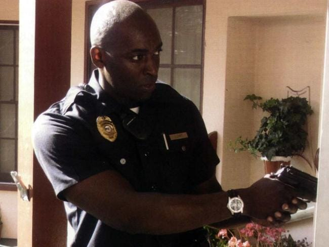 TV star ... Michael Jace seen in his role in TV's The Shield.