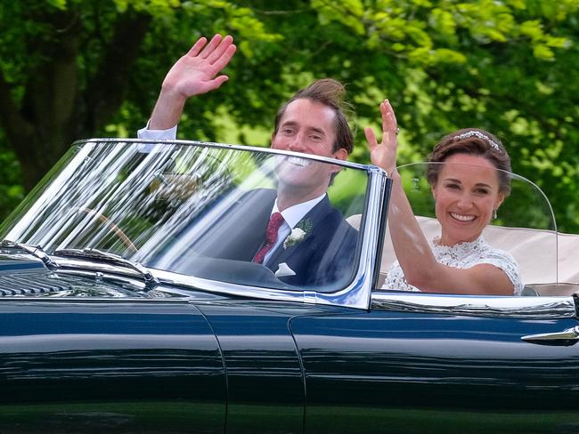 Pippa Middleton and James Matthews leave Englefield. Picture: Splash