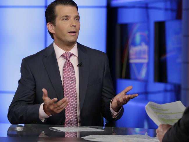 Donald Trump Jr. said he would have handled things differently in an interview with Fox News host Sean Hannity. Picture: AP Photo/Richard Drew.