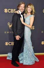 William H. Macy and Felicity Huffman attend the 69th Annual Primetime Emmy Awards at Microsoft Theater on September 17, 2017 in Los Angeles. Picture: Getty