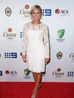 Virginia Lette on the red carpet arriving at the 2014 Allan Border Medal held at Doltone House at Hyde Park.
