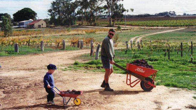 Callum, now in the third year of a winemaking course, has been helping his dad since infancy.