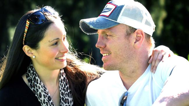 Luke Lewis with his wife Sonia.