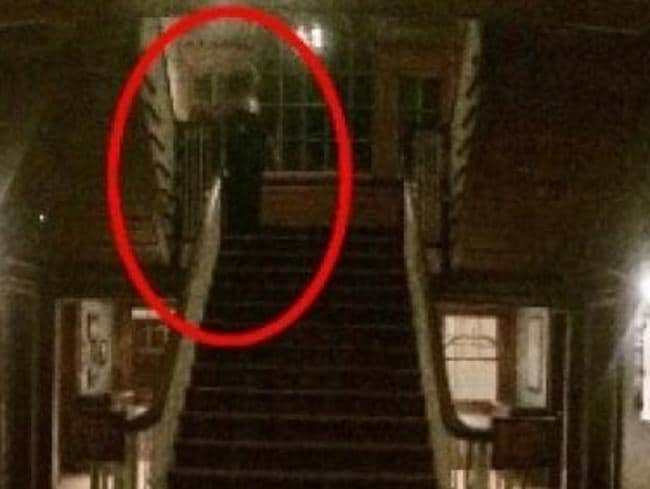 Henry Yau took this photo at the Stanley Hotel in Colorado — spot the ghost? Picture: Henry Yau