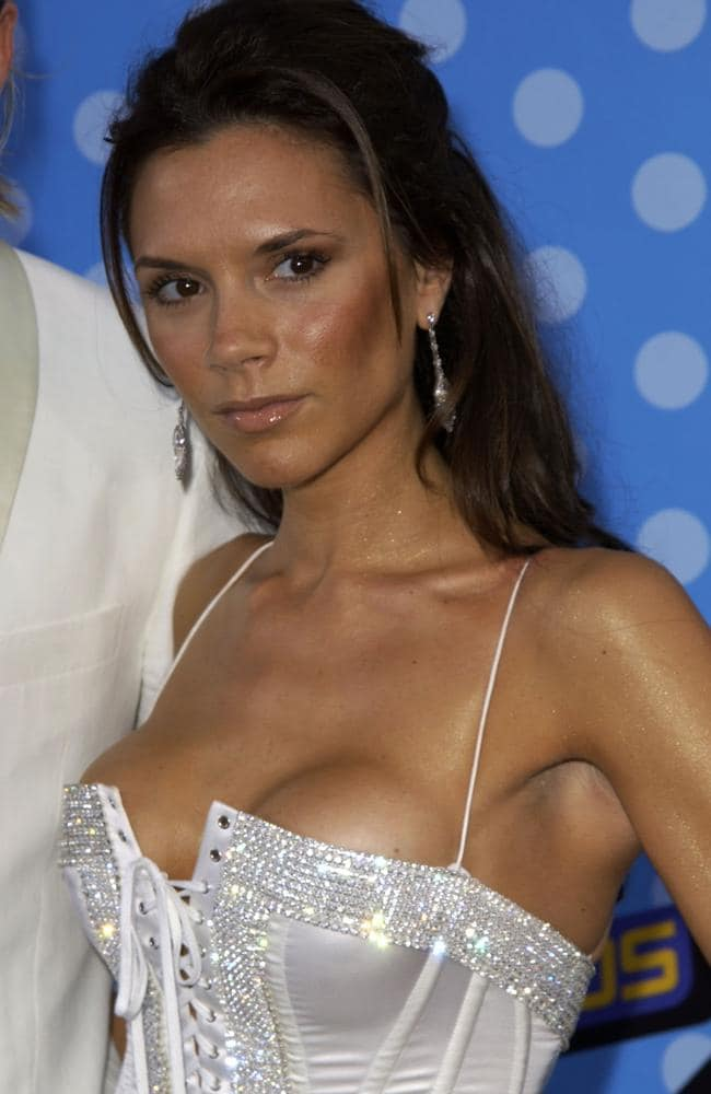 Victoria Beckham famously had her round breast implants removed. Picture: Supplied