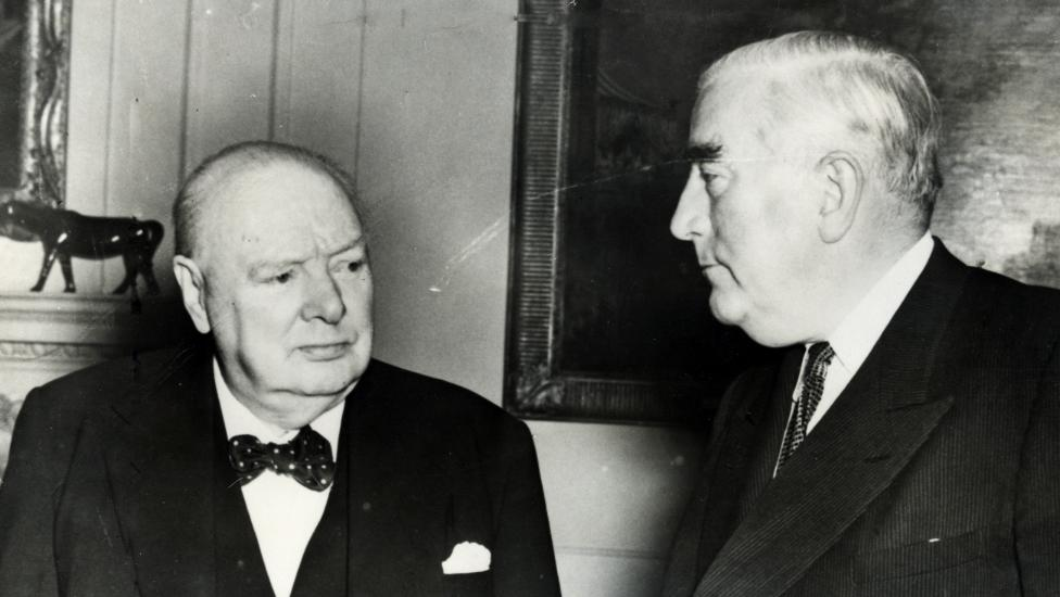 Bilateral ... Prime Minister Sir Winston Churchill with Prime Minister Robert Menzies during the opening session of The Commonwealth Prime Minister's Conference at Number 10 Downing Street in London, England, 1955. Picture: Supplied
