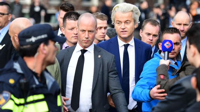 Wilders lives under 24-hour protection. Picture: Emmanuel Dunand/AFP