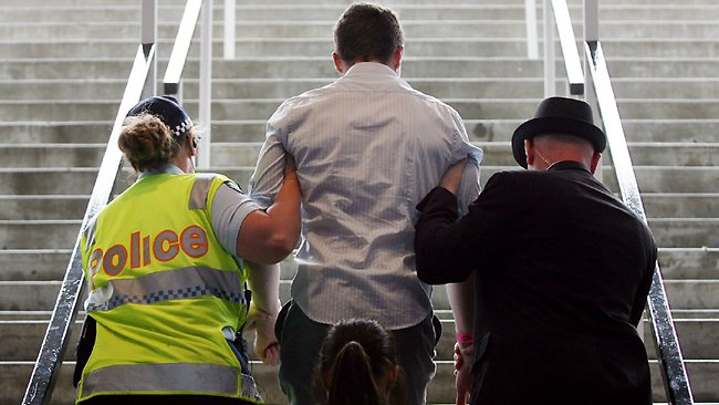 One punter gets kicked out of the races early.