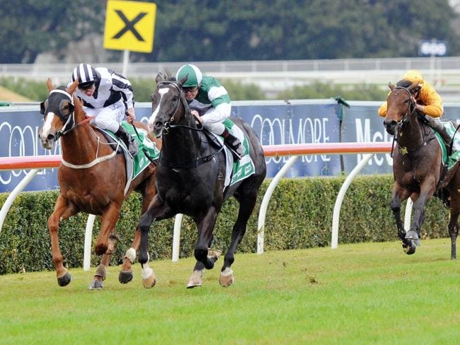 Inkling and Joshua Parr put paid to their rivals in the TAB Early Quaddie Handicap. Picture: Simon Bullard