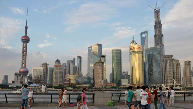 The Shanghai skyline and the Shanghai Tower on the right. Picture: AFP