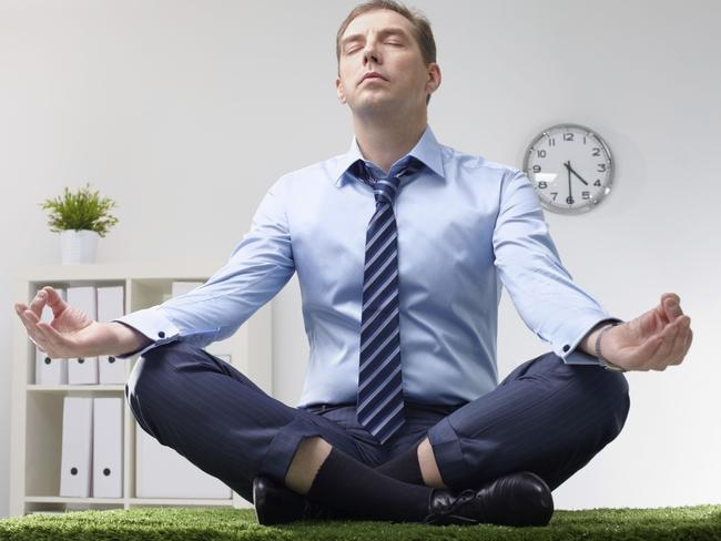 Mindfulness at work doesn't have to look like this.