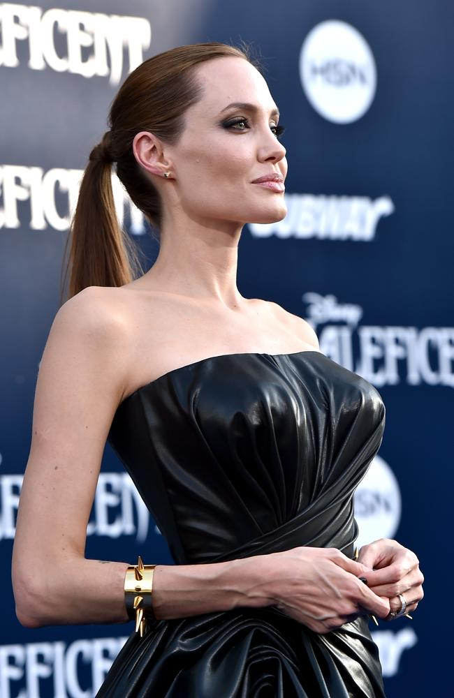Sexy or scary? Angelina Jolie attends the World Premiere of Disney's Maleficent in Hollywood. Picture: Getty Images