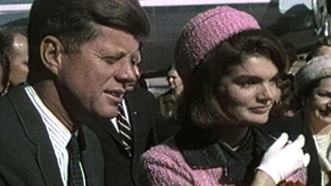 John F. Kennedy and his wife, Jacqueline Kennedy, pictured on November 22, 1963.