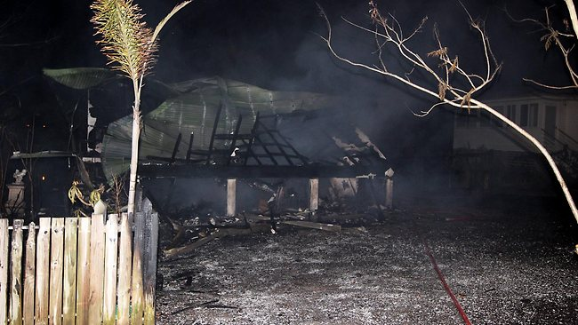 The house was destroyed by the blaze. Picture: Brendan Radke