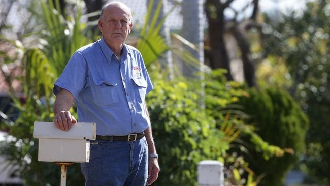 "Darryl Hansen, 84, said Australia Post customer service representatives told him he would have been notified about the exclusion zone via mail. ""But we can't get any letters,"" he said"