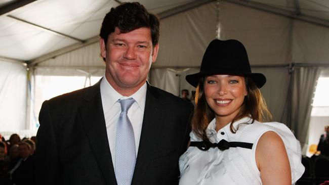 James and Erica Packer in 2008.