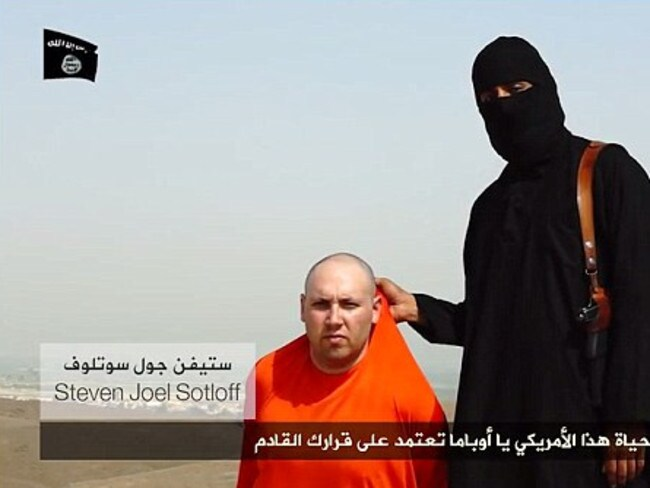 Execution threat ... Islamic State has threatened the life of another captured journalist, Steven Joel Sotloff, if the United States does not cease air operations over Iraq.