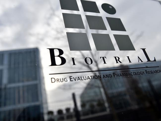 The Biotrial laboratory in Rennes, western France, where a clinical trial of an oral medication left one person dead and hospitalised another five. Picture: AFP/Loic Venance