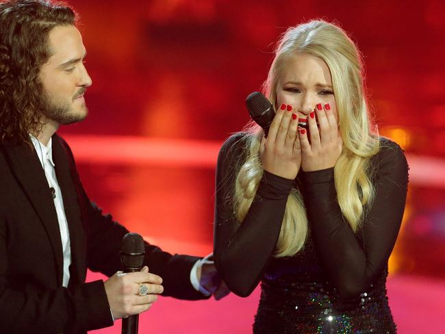 Anja Nissen wins the The Voice finale at Fox Studios, Moore Park.