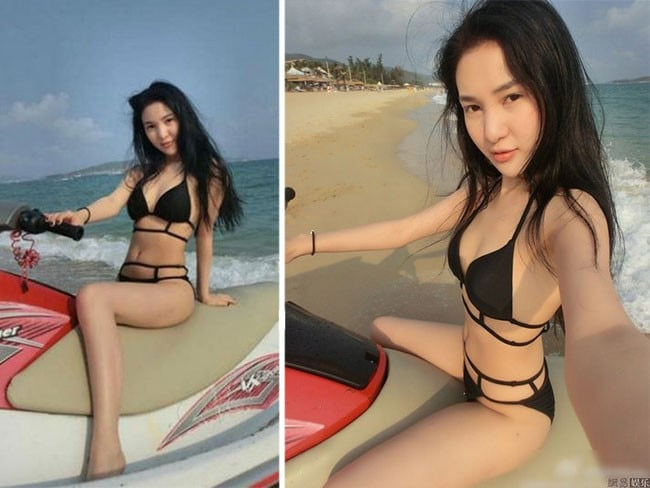 Ostentatious ... Some of the social media pictures which elevated Guo Meimi to the status of internet celebrity in China. Picture: Weibo