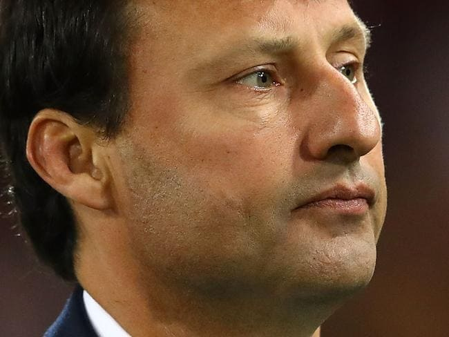BRISBANE, AUSTRALIA - JULY 12:  Blues coach Laurie Daley looks dejected after game three of the State Of Origin series between the Queensland Maroons and the New South Wales Blues at Suncorp Stadium on July 12, 2017 in Brisbane, Australia.  (Photo by Cameron Spencer/Getty Images)