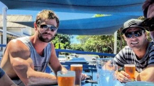 Muscle-bound ... Chris Hemsworth is nowhere to be seen in the new Tourism Australia campaign. Picture: Instagram/Liam Hemsworth