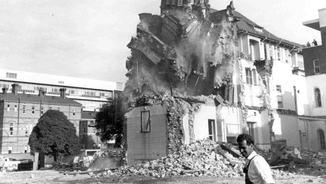 Demolition of the hospital, in 1963. Picture: Heritage Office Royal Adelaide Hospital