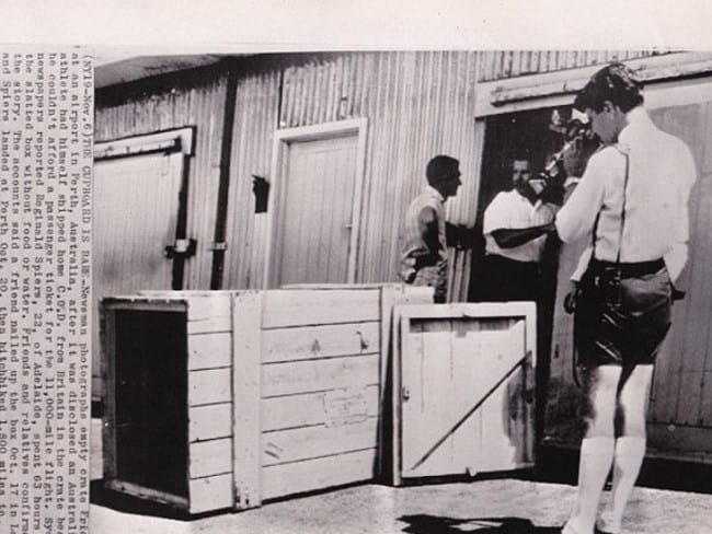 Media sensation ... the discovery of the box at Perth Airport in 1964 caused a media storm. Picture: outoftheboxstory.com