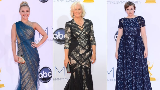 Fashion fizzle: Actresses Hayden Panettiere, Glenn Close and Lena Dunham missed the mark at this year's Emmys. Pictures: Getty