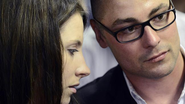Family backing ... Pistorius has been supported in court by his sister Aimee and brother Carl.