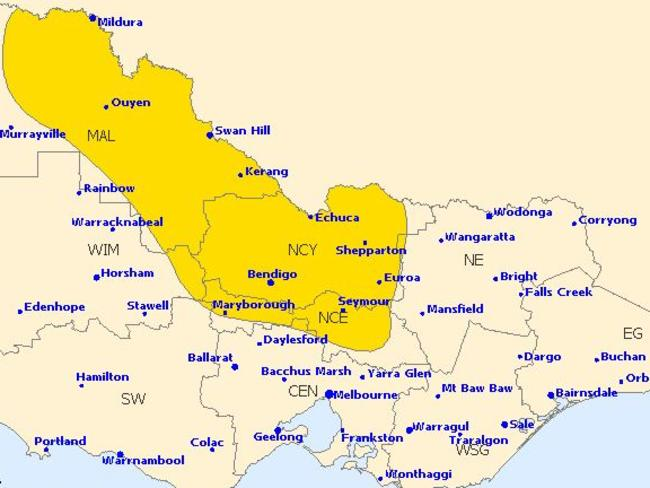 Severe weather warnings are in place for large parts of Victoria today.