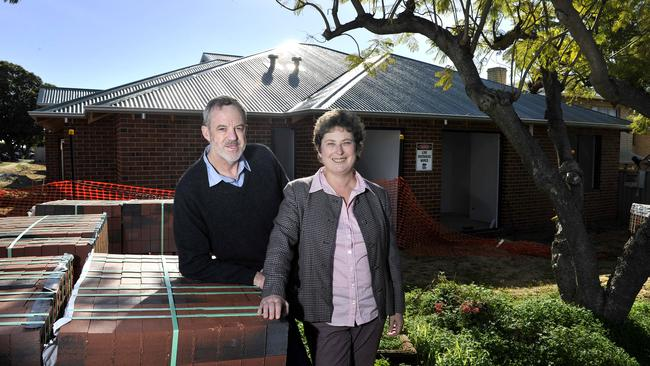 Helen and Allan Hodgson are among a growing band of people developing big blocks in established Perth suburbs. Picture: Theo Fakos