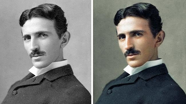 Historic pictures in colour: Nikola Tesla, 1893