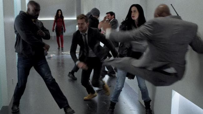 Hallway fight! Picture: Netflix