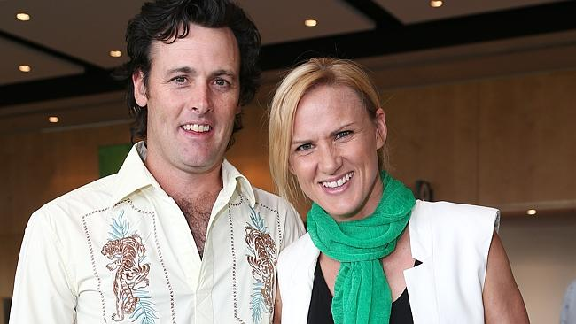 Netball great Sharelle McMahon with partner Brek Mansfield.