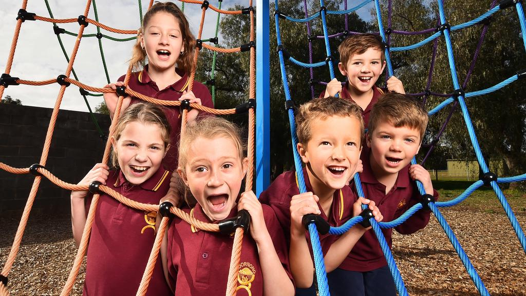 Goornong Primary School used donations to pay for a new playground. Picture: Rob Leeson