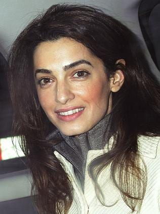 Just days ago the rumours started swirling that the loved-up couple were engaged after a romantic dinner in Malibu. Amal Alamuddin has since been spotted wearing a huge engagement ring around the streets of LA. Rumours have since been confirmed with the lawyers's firm sending congratulations to the pair. Picture: AP