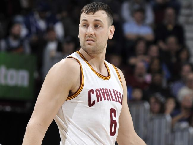 Andrew Bogut during his brief Cleveland Cavaliers stint.