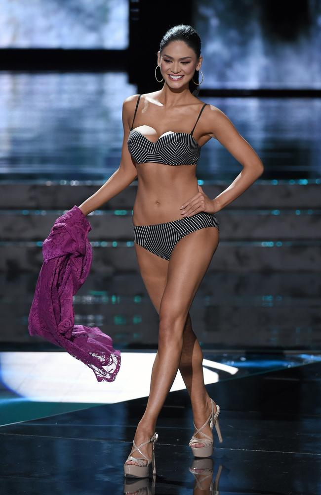 Miss Philippines, Pia Wurtzbach, competes in the swimsuit competition during the 2015 Miss Universe Pageant. Picture: Ethan Miller/Getty Images