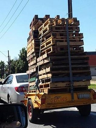 We hope this driver doesn't go around corners too fast. Picture: Crap Adelaide Drivers — Facebook