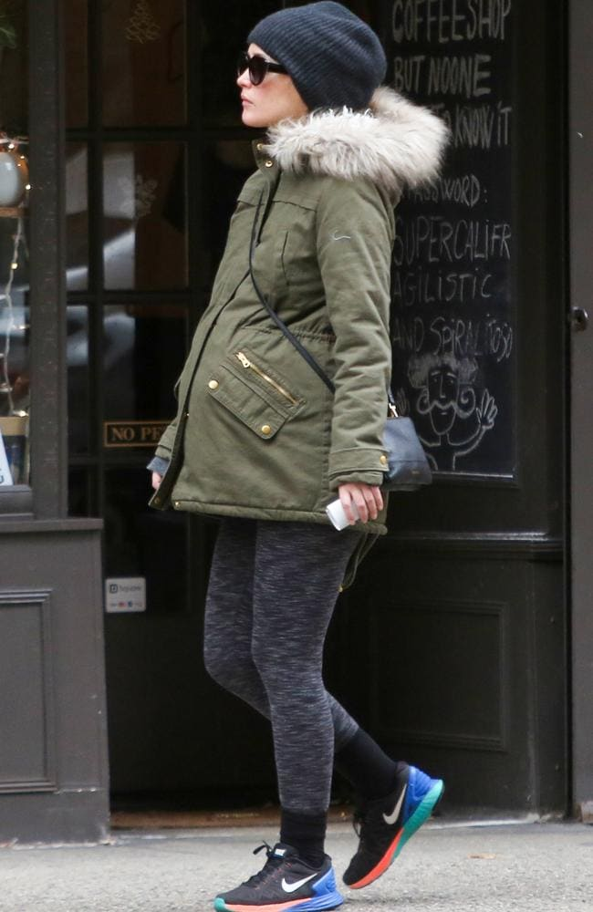 Rose Byrne out and about in NYC in December 2015. Picture: Splash News Australia