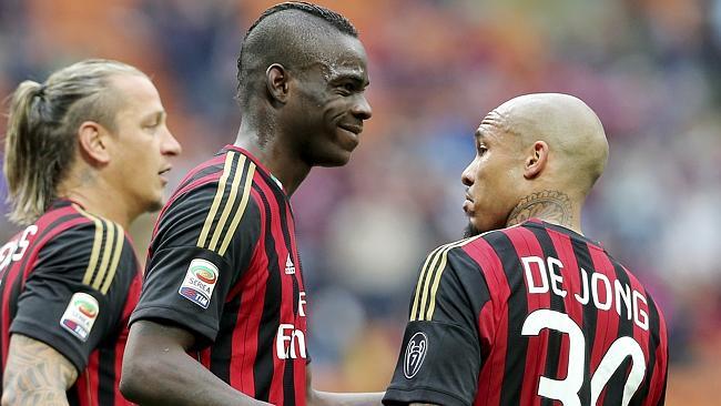 Nigel de Jong was impressed by Balotelli's efforts.