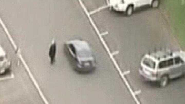 A photo from 7 News helicopter of the chase.