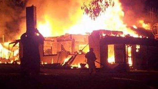 Town's one pub destroyed in fire